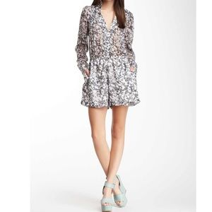 BCBGeneration Pants - BCBG sheer print romper
